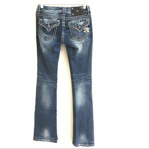 Miss Me medium wash boot cut jeans 26